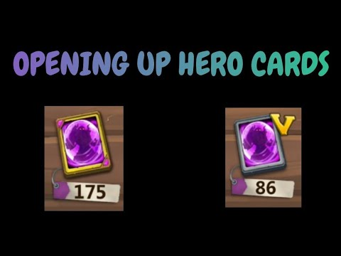 Opening Up 250+ Good Hero Cards L Castle Clash