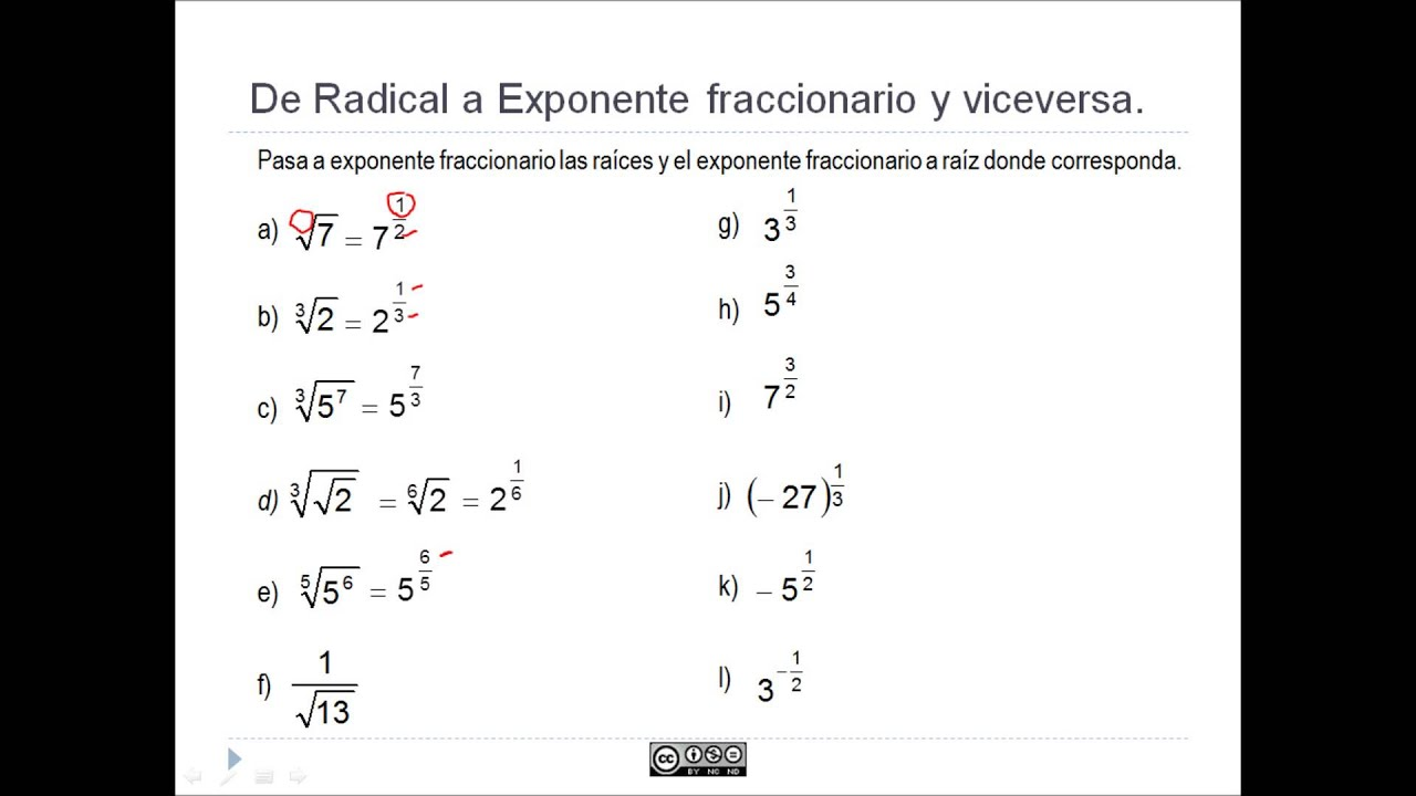 Ejercicio Paso A Exponente Fraccionario Youtube