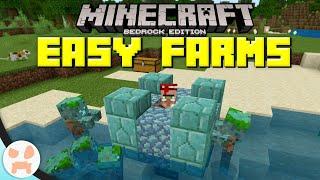 3 EASY Minecraft Bedrock 1.13+ FARMS!