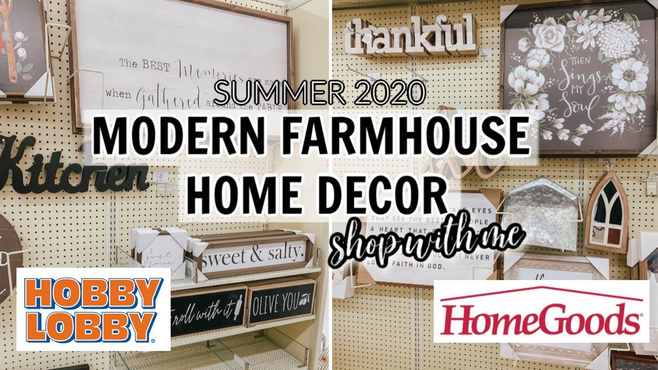 Farmhouse Home Decor Finds Shop Withme At Hobby Lobby Home Goods Youtube