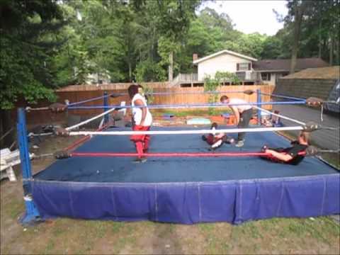 Wwe Trampoline Ring Match