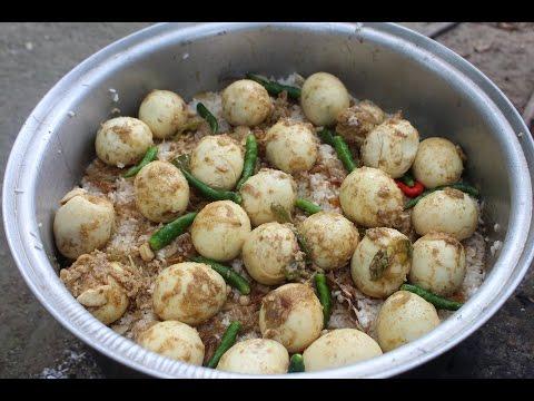 Village Food | Egg biryani Recipe | Grandmother recipes-57