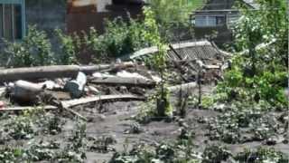 Последствия наводнения дачи г Краснокаменска 2012