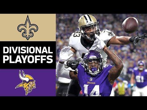 Saints vs. Vikings | NFL Divisional Round Game Highlights