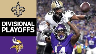 Saints vs Vikings  NFL Divisional Round Game Highlights
