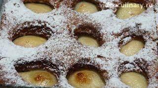 Бисквитный пирог с грушами - Рецепт Бабушки Эммы