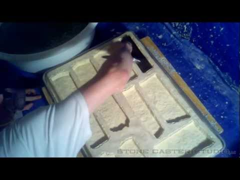 How to add stone veneer accent colors using rubber molds.