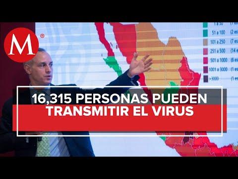 En México hay 16 mil 315 casos activos de covid-19