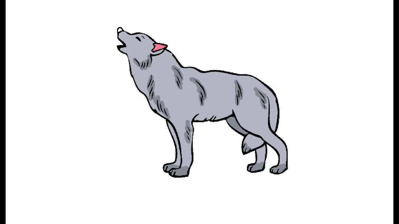 Как нарисовать Воющего волка. Раскраска Воющий волк для ...