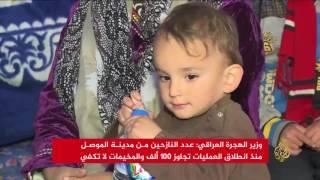 أوضاع إنسانية صعبة بمخيمات النازحين شرق الموصل