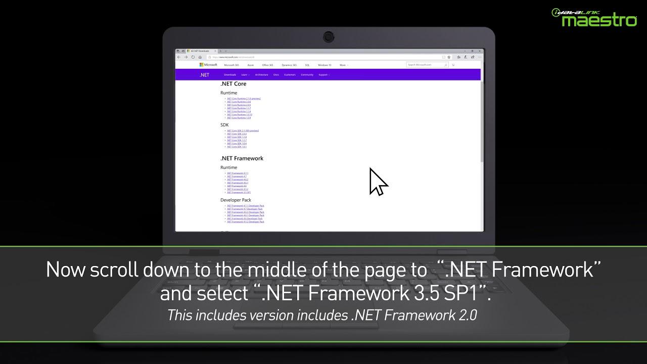 iDatalink Weblink Updater - Installing .NET Framework 2.0 on your PC ...
