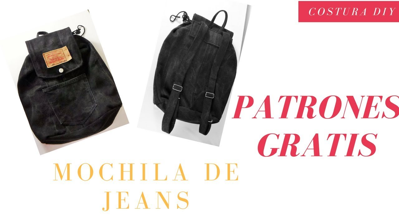 b336157f7 DIY Mochila de Jeans escolar   Costura Diy - YouTube