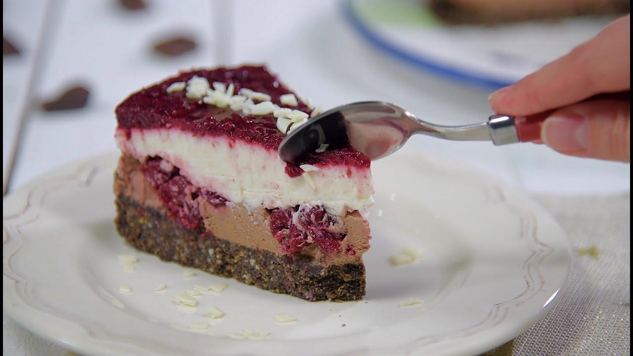 Reteta - Cheesecake cu ciocolata si visine (fara coacere) | Bucataras TV