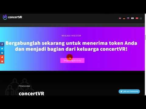 ConcertVR - platform berbasis blockchain pertama untuk konten VR sektor musik dan hiburan
