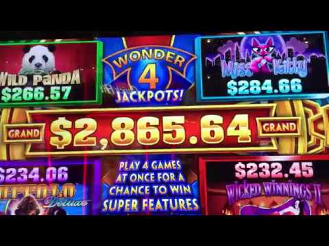 Wonder 4 Jackpot Slot Machine Bonus New Wicked Winnings