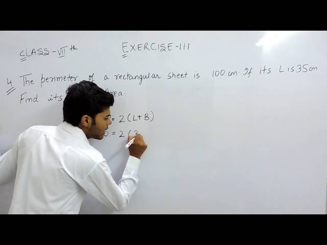 Exercise 11.1 - Question 4 NCERT Solutions for Class 7th Maths Perimeter and Area