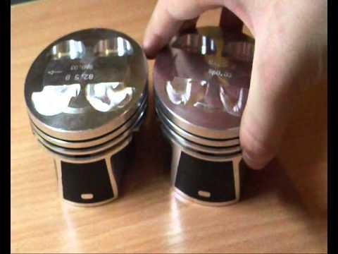 Фото к видео: Обзор безвтыковые приоро поршни СТК и развесовка шпг