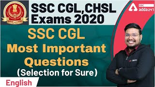 Most Important Questions English   Special for CHSL/CGL   English   SSC CGL CHSL Exam Preparation