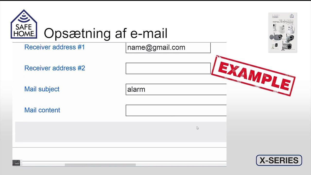 Fantastisk SafeHome Serie X IP Kameraer - Mail, FTP & Alarm opsætning - YouTube EV01
