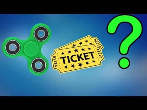 How many Tickets does a FIDGET SPINNER cost at the Arcade?
