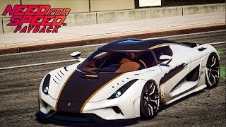 รถที่เร็วที่สุด Koenigsegg Regera - Need for Speed Payback