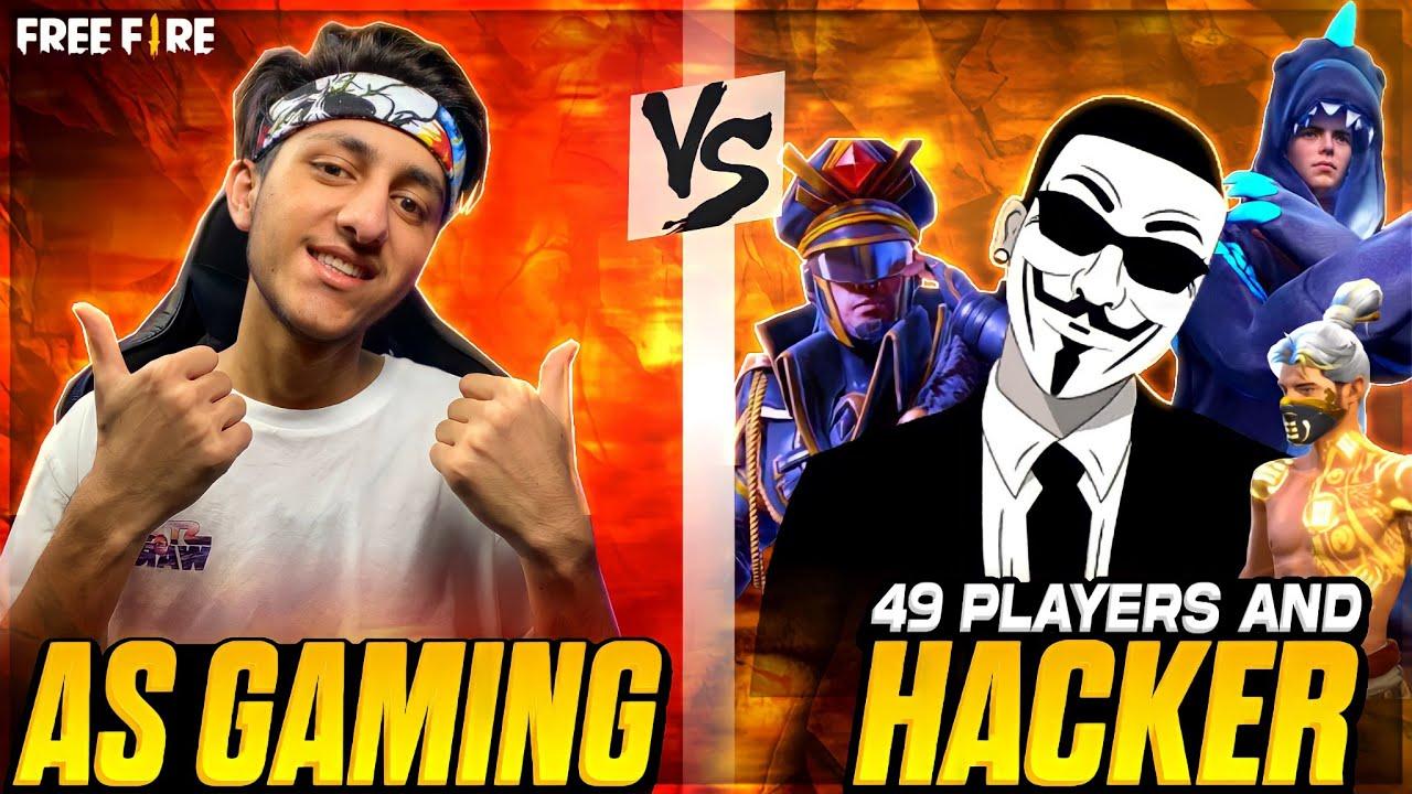As Gaming Vs 49 Players And Hacker New Green Criminal Bandal Garena Free Fire