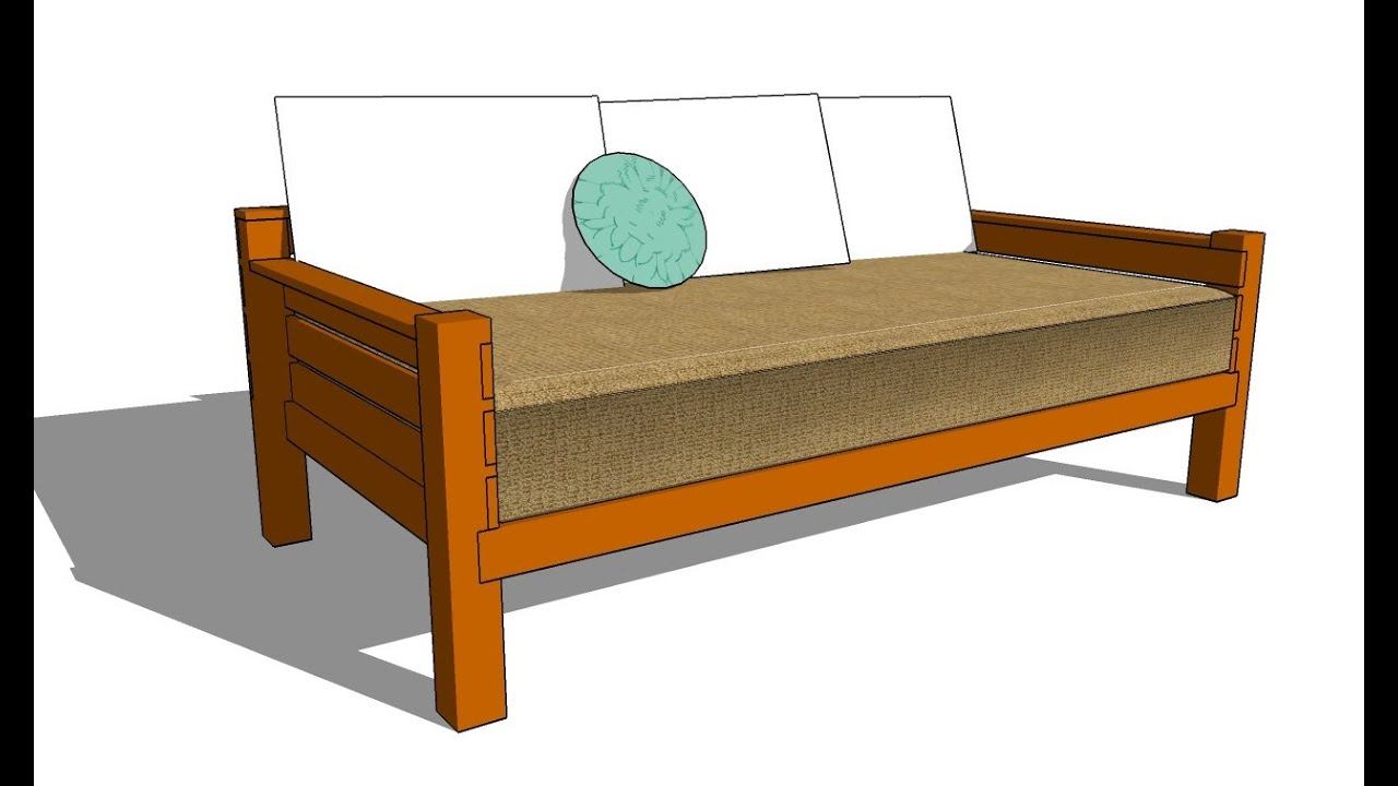 Daybed frame plans - How To Build A Daybed