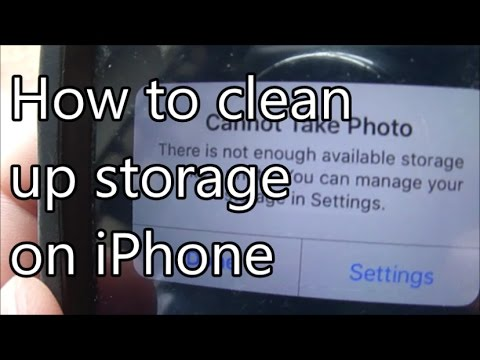 How to clean up your iPhone storage