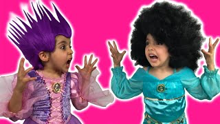 Rapunzel Hair Disaster Real Life Disney Princess Movie + Maleficent + Jasmine + PUNK/AFR0 HAIRSTYLE