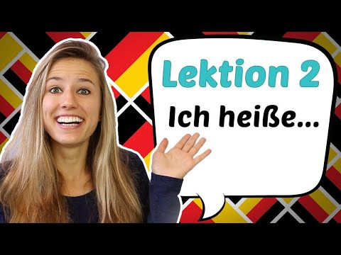 GERMAN LESSON 2: How to say