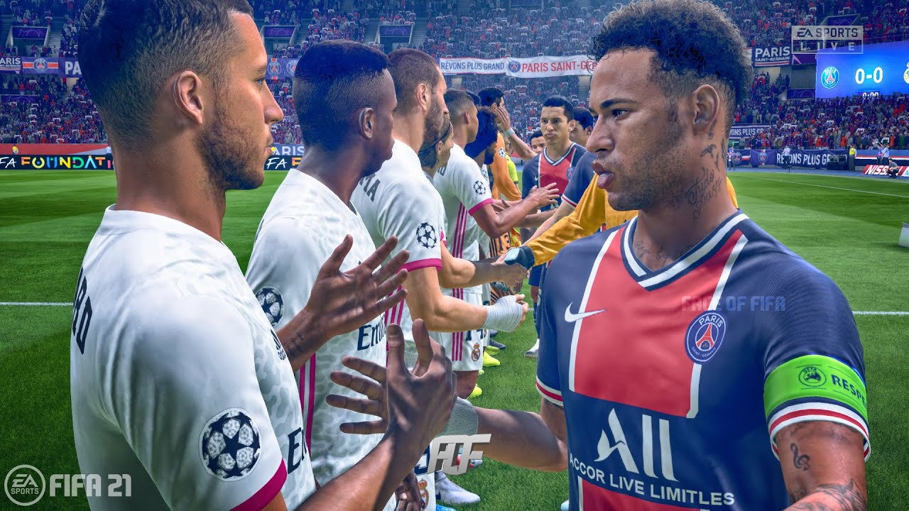 FIFA 21   PSG vs Real Madrid   UEFA Champions League - YouTube