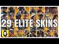 ALL 29 RAINBOW SIX SIEGE ELITE SKINS - MVP ANIMATIONS - OFFICIAL RELEASED + ZOFIA! Elite Skin