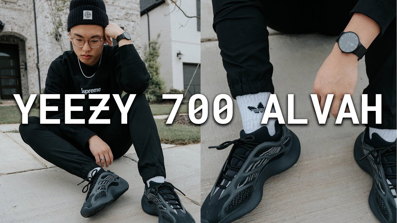 how to style yeezy 700 alvah  review  youtube