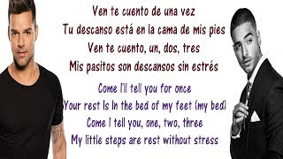 Ricky Martin - Vente Pa' Ca Lyrics English and Spanish - ft Maluma - Translation & Meaning