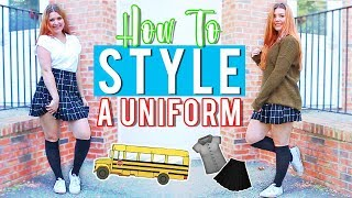 How to Style a SCHOOL UNIFORM! | #BTSwithAmanda