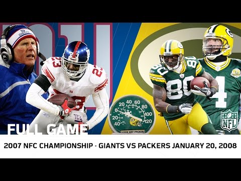 Giants Upset Brett Favre in Lambeau | Giants vs. Packers 2007 NFC Championship (FULL GAME) | NFL