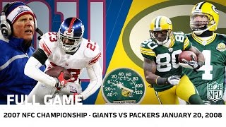 Giants Upset Brett Favre in Lambeau | Giants vs. Packers 2007 NFC Championship | NFL Full Game