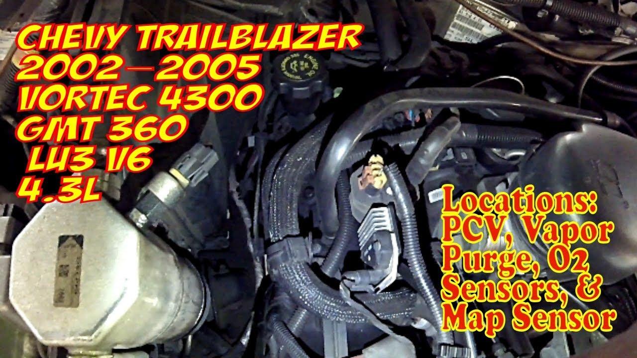 Chevy Blazer 4 3 L Vortec 4300 Gmt 360 Emissions Locations Pcv Purge O2 Sensors