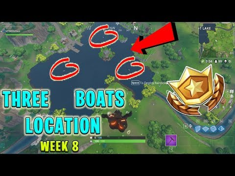 Search Between Three (3) Boats - Fortnite Week 8 Challenges