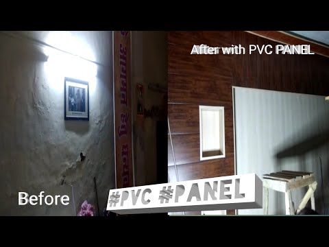 #PVCPANELWORK  PVC Wall Panel Wall (Best Interior Material For Middle Class Family) Installation PVC
