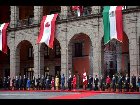 Visita Oficial del Primer Ministro de Canadá, Justin Trudeau: Ceremonia de bienvenida