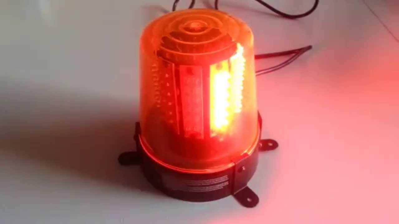 led warnlicht 230v 108 leds rot rundumleuchte youtube. Black Bedroom Furniture Sets. Home Design Ideas