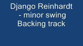 Minor Swing - Backing track