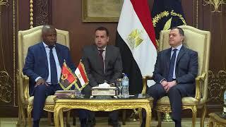 إستقبل السيد محمود توفيق وزير الداخلية السيد أنجلو دى باروس دافيجا وزيرداخلية جمهورية أنجولا