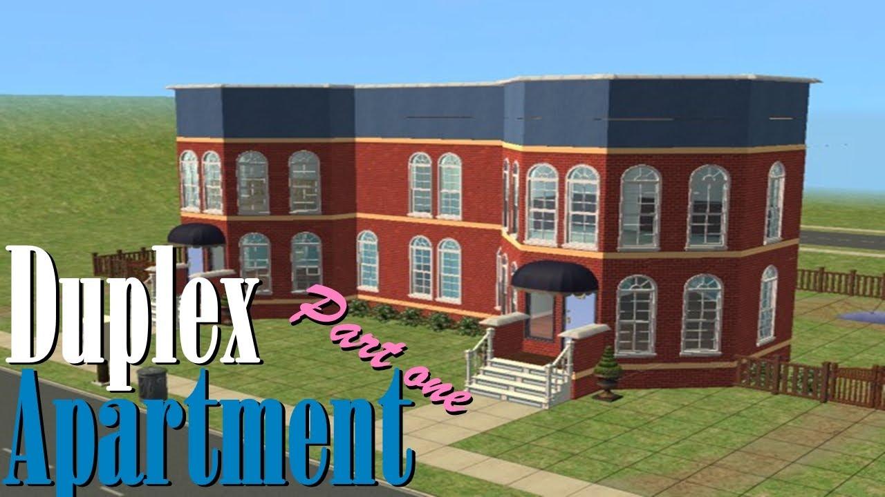 The Sims 2 House Build Duplex Apartment Part 1