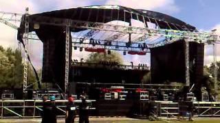 Unheilig - Sturm zerfetzt die Bühne, Konzertabsage in Rostock 19.8.11