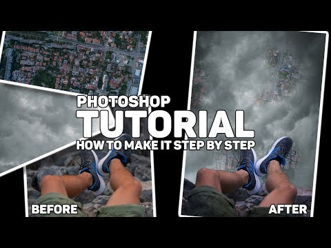 "Photoshop tutorial ""High above everithing and everobody"" thumbnail"