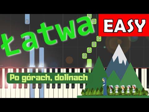 🎹 Po górach, dolinach - Piano Tutorial (łatwa wersja) 🎹