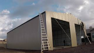 Absolute Steel RV Garage - Installation and Concrete Time-Lapse YouTube Videos
