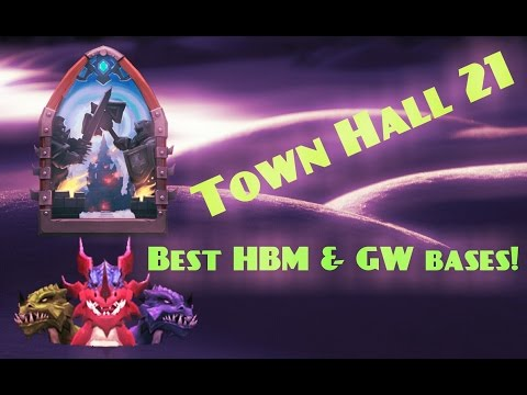 Castle Clash; Best TH21 Bases For HBM & GW!